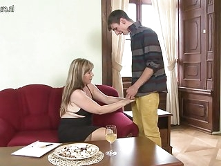 Watch - Real stepmother fucking and sucking not her son
