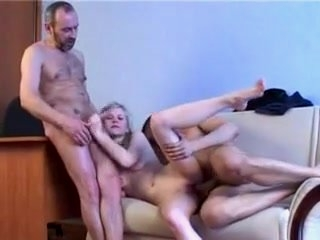 Watch - Dilettante - Cute Blonde Playgirl Male+Male+Female Trio CIM Facial