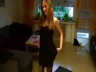 Watch - Sexy golden-haired screwed with her pants on