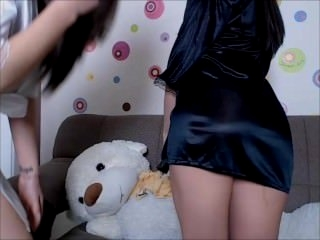 Watch - Two horny teen girls tease on cam