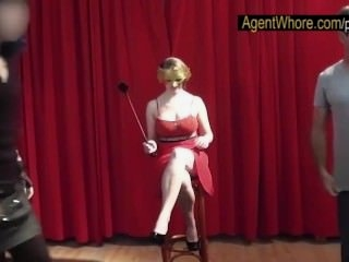 Watch - Masked BUSTY sex queen at photoshoot