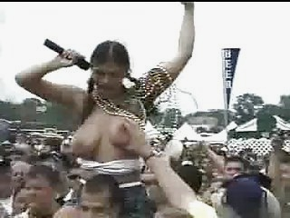 Watch - tits groped at festival