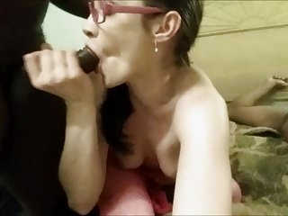 Watch - southern white wife with old fat black man from CL no sound