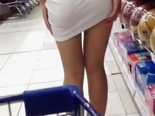 Watch - Shy girl flashing in store