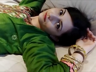 Watch - Anila in Green Shalwar kameez