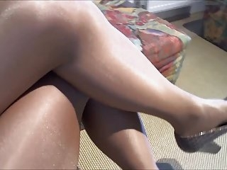 Watch - Me in Danskin Ultra Glossy,Shiny, Pantyhose