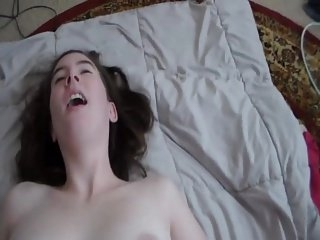 Watch - Riding Cowgirl Orgasm With Cum On Tits